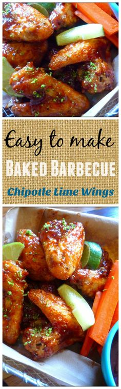 Deliciously baked not fried tangy Baked BBQ'd Chipotle Lime Wings are as simple as 1-2-3, budget friendly and perfect for your next Sunday game day. Baked BBQ'd Chipotle Lime Wings are …