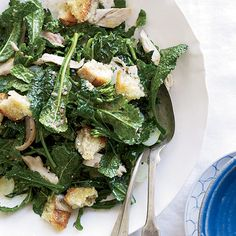 Kale Salad with Chicken | Kale salads are great with a dressing that relies on cured fish, like anchovies.