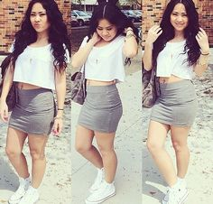 Summer skirt & sneakers