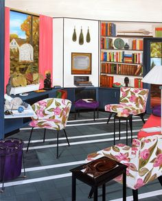 And from now on, this can be the very first impression: Living Room Art, Living Room Interior, Blue Lounge, Arch Interior, Art Deco Home, Australian Art, Cool Walls, Room Decor, Gallery