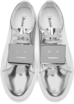 Acne Studios - Silver Metallic Adriana Sneakers Accessoires Chaussures,  Affiche, Baskets Métalliques, Chaussures b486b1b0f44