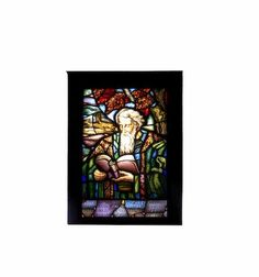 Max Nauta, Dutch (1896-1957): A unusual early 20th century leaded stained glass window panel