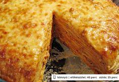 Húsos rakott palacsinta Hungarian Recipes, Food Tasting, Cornbread, Bacon, Cooking Recipes, Favorite Recipes, Sweets, Ethnic Recipes, Foods