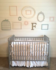 Farmhouse Nursery For A Baby Love The Shabby Chic Details In This Sweet Room