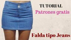 DIY Cómo hacer una falda vaquera o jeans