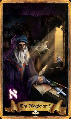Illuminati Tarot: Keys of Secret Societies - The Magician Looks gorgeous OvO