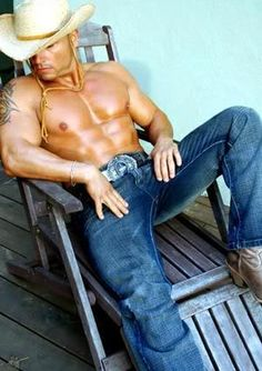 Love a cowboy with nice abs