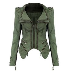Women's Turndown Denim Rivet Short Jacket Coat