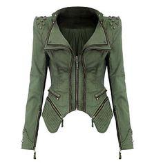 Women's Turndown Denim Rivet Short Jacket Coat