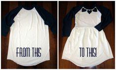 De Polera manga larga o 3/4 a vestido niña :O
