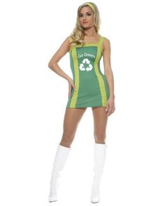 0cfa4ded09 Go Go Green Girl Adult Costume Description  She s the recycle queen