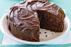 A hint of coconut takes this moist chocolate cake to a whole new level.