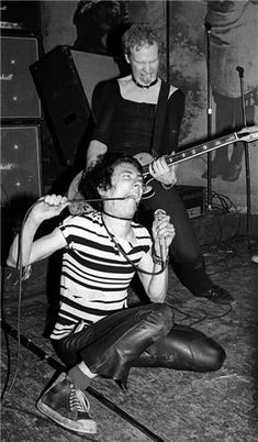 Stiv Bators and Cheetah Chrome of the Dead Boys, CBGB's, 1977.