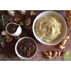 Savory Mushroom and Herb Gravy with Cauliflower Potato Mash! Today on my blog I share another vegan and gluten free side dish for this holid...