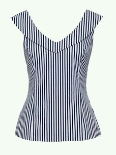 Jolene stripe top fashion outfits blouse, fashion e tops Blouse Styles, Blouse Designs, Mode Chic, Blouse Outfit, Mode Inspiration, Cute Tops, Dress Patterns, African Fashion, Designer Dresses