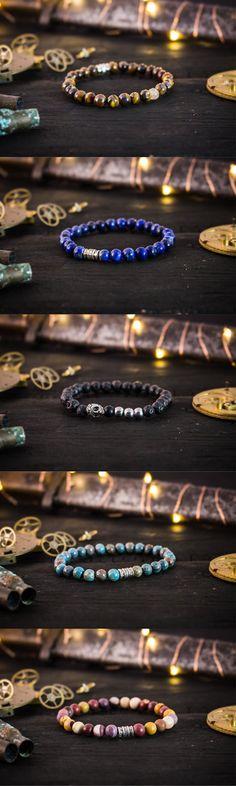 Selection of handmade quality mens bracelets #mensbracelet #handmadebracelets #mensfashion