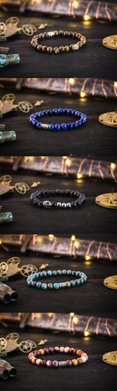 Selection of handmade quality mens bracelets #mensbracelet #handmadebracelets #mensfashion