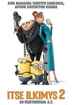 High resolution official theatrical movie poster ( of for Despicable Me 2 Image dimensions: 1595 x Starring Steve Carell, Kristen Wiig, Benjamin Bratt, Miranda Cosgrove Steve Carell, Miranda Cosgrove, 3d Kino, Martina Hill, Benjamin Bratt, Minions Despicable Me, Minion Movie, Cinema, Film D'animation