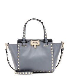 VALENTINO Rockstud Leather Tote. #valentino #bags #stone #tote #leather #lining #denim #shoulder bags #hand bags #