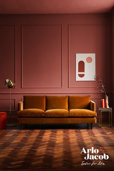 Autumnal Interiors with the new Clara Sofa Autumn is arguably one of the most naturally colourful seasons with a range of beautiful hues to inspire your interiors; from pumpkin spiced lattes to golden leaves and early-evening sunsets. Orange Color Combinations, Palette Deco, Evening Sunset, Boho Home, Brown Furniture, Burgundy And Gold, Contemporary Sofa, Interiores Design, Metal Walls