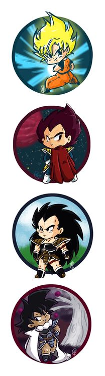 DBZ Goku, Vegeta, Raditz and Turles