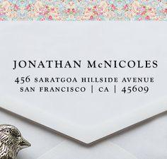 Custom Address stamp - Eco Friendly, gifts for wedding, housewarming, etsy labels, return address stamp - ea1028 via Etsy