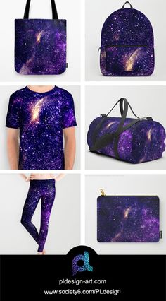 Ultra violet purple abstract galaxy unisex all over print shirt, leggings, apparel, tote bag, backpack, duffle bag, carry-all pouch and more by #PLdesign #style #fashion #accessories @society6