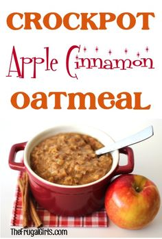 Crockpot+Apple+Cinnamon+Oatmeal+Recipe