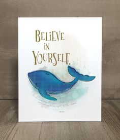 Items similar to Children's art print, confidence whale, nursery art, kid character trait on Etsy Whale Nursery, Baby Whale, Nursery Art, Whale Print, Kid Character, Sea Creatures, Art Prints, Animal Prints, Art For Kids