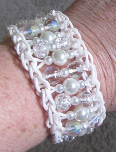 My pattern for beaded rubber band bracelet.