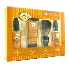 Help him to keep his face hair-free with this 'The Art Of Shaving Starter Kit' which should leave him looking fresh faced. http://www.priceme.co.nz/The-Art-Of-Shaving-Starter-Kit-Lemon-Pre-Shave-Oil-Shaving-Cream-Brush-After-Shave-Balm-4pcs/p-885699306.aspx