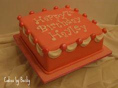 Pink & White draped birthday cake