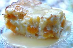 Wow, this. was. yummy!  It was pretty much peach cobbler in a cake, doesn't get any better! I was looking for a 4th of July dessert and this...