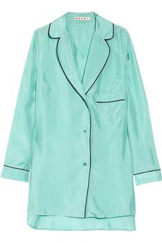 Marni Oversized Silk Pyjama Shirt