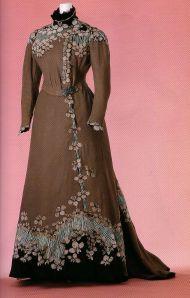 Jacques Doucet, Evening Dress with Japanese Floral Design, 1897