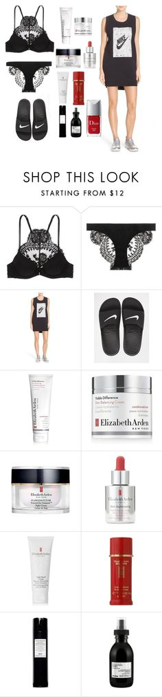 """slumber"" by esposito-alicya on Polyvore featuring La Perla, NIKE, Elizabeth Arden, Davines and Christian Dior"
