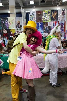 Pinkie Pie and Cheese Sandwich Cosplay from Anime Boston 2014