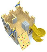 Childrens Playhouse Plans 863213453566165868 - Fun Fortress Playhouse Plan for Kids – Paul's Playhouses Source by madlandscapers Kids Backyard Playground, Backyard Swings, Backyard For Kids, Backyard Projects, Playground Ideas, Backyard Ideas, Cedar Playhouse, Backyard Playhouse, Playhouse Plans