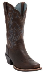 Ariat Ladies Legend Western Boots - Oiled Brown Square Toe | Cavender's