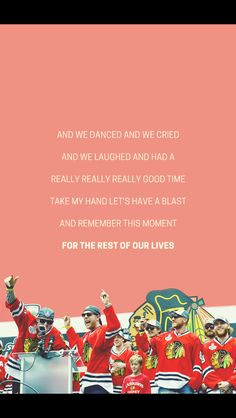 And we danced and we cried and we laughed and had a really really really good time. #Blackhawks #StanleyCupChamps2015 (I couldn't find the credit for whoever created this - if you know, please add a comment.)