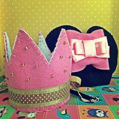 felt crown, Minnie ears :-)