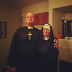 Sharon and I dressed up for a Halloween gathering!  Photo by jimgrayonline