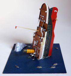Paper model 1/600 Diorama Titanic
