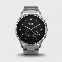 Vector Watch Luna - Çelik Kasa ve Çelik Kordon Akıllı Kol Saati