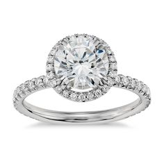 Choose blue nile studio heiress halo diamond engagement ring in platinum ct.) with a stunning - ct. diamond from Blue Nile. Most Popular Engagement Rings, Buying An Engagement Ring, Round Halo Engagement Rings, Perfect Engagement Ring, Halo Rings, Wedding Engagement, Engagement Ideas, Blue Nile, 1 Karat
