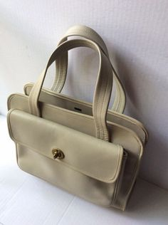 COACH VINTAGE 60's BONNIE CASHIN IVORY LEATHER PURSE BAG MATAL TAG RARE | eBay Handbags Online, Purses And Handbags, Coach Purses, Coach Bags, Bonnie Cashin, Vintage Coach, Shoulder Handbags, Leather Purses, Ivory