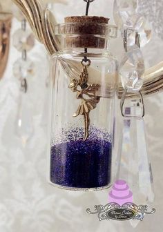 Fairy in vial with fairy dust/pixie dust lace by NamecakesbySonia