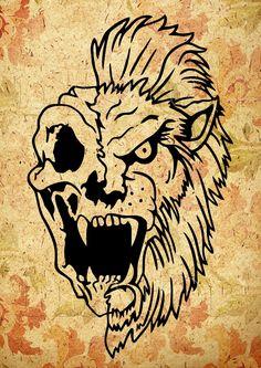 Skull animal, SVG, dxf, png, AI, wild animal, tattoo design, tshirt design, car decal, wall art, vinyl cutting files, stencil scroll saw