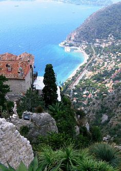 EZE, France (I remember the drive up here as harrowing!) Also, the flowers for the finest perfumes are grown here - lovely!
