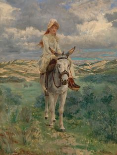 Jan Verhas (1834-1896), A Walk in the Dunes, 1885.